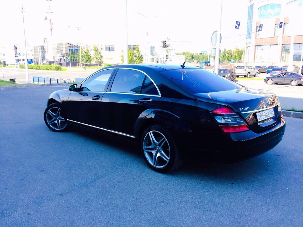 Подержанный Mercedes-Benz S-Класс, отличное состояние, черный металлик, 2008 года выпуска, цена 1 200 000 руб. в ао. Ханты-Мансийском Автономном округе - Югре