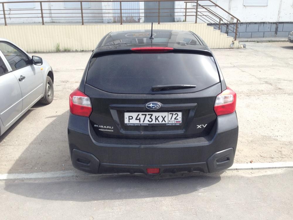 Подержанный Subaru XV, хорошее состояние, черный металлик, 2012 года выпуска, цена 860 000 руб. в ао. Ханты-Мансийском Автономном округе - Югре