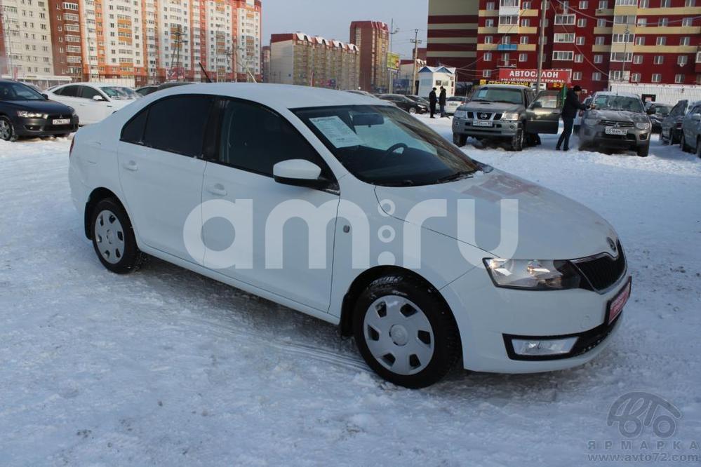 Skoda Rapid с пробегом, белый , отличное состояние, 2014 года выпуска, цена 530 000 руб. в автосалоне  ()