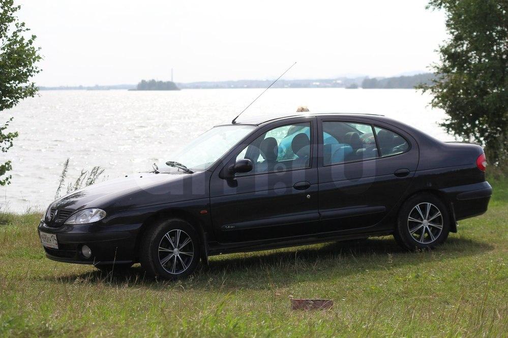 Подержанный Renault Megane, хорошее состояние, черный , 2003 года выпуска, цена 185 000 руб. в Челябинской области