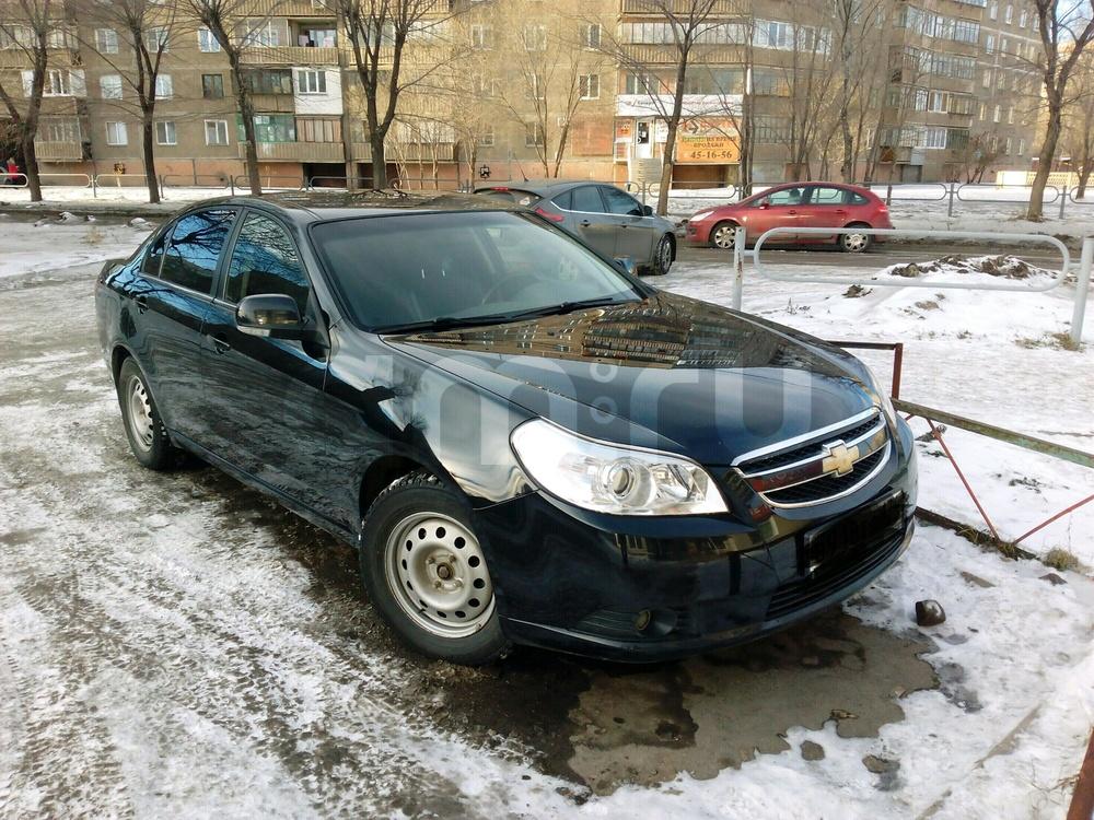 Подержанный Chevrolet Epica, отличное состояние, черный , 2012 года выпуска, цена 510 000 руб. в Челябинской области
