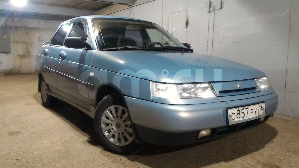 Подержанный ВАЗ (Lada) 2110, отличное состояние, белый металлик, 2002 года выпуска, цена 77 000 руб. в республике Татарстане