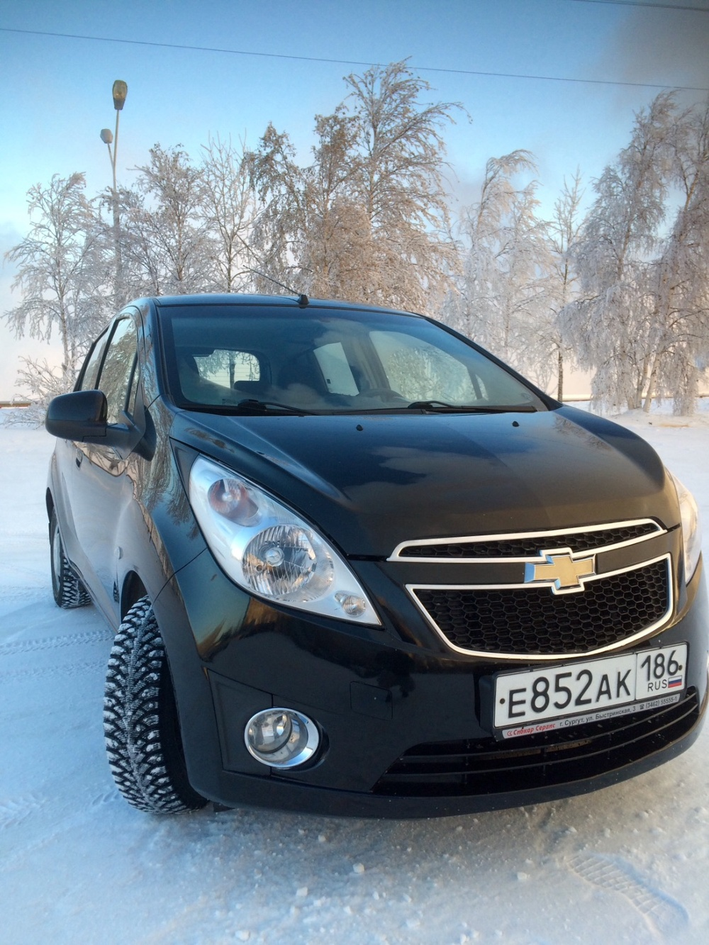 Подержанный Chevrolet Spark, хорошее состояние, черный , 2013 года выпуска, цена 370 000 руб. в ао. Ханты-Мансийском Автономном округе - Югре