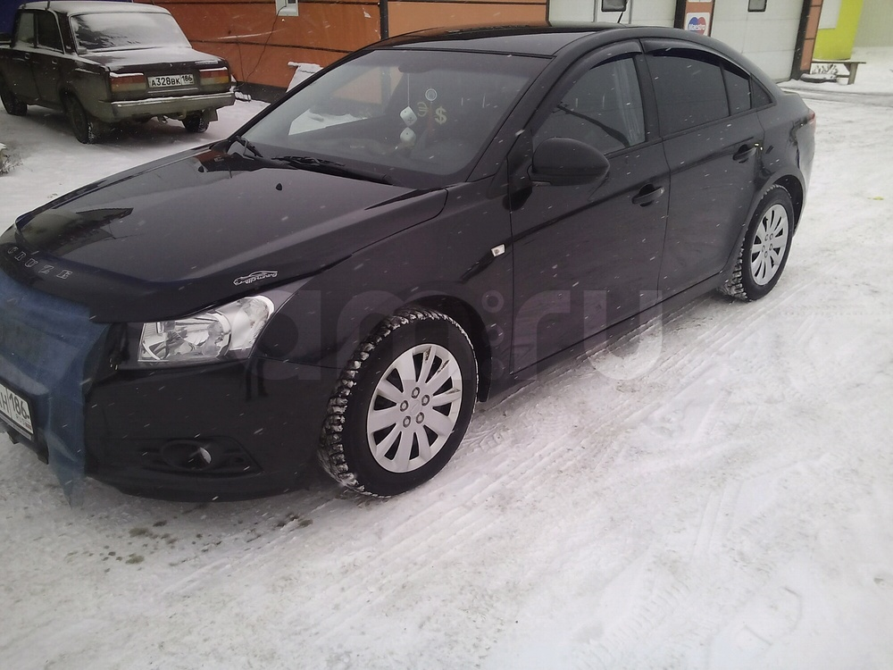Подержанный Chevrolet Cruze, отличное состояние, черный металлик, 2012 года выпуска, цена 550 000 руб. в ао. Ханты-Мансийском Автономном округе - Югре