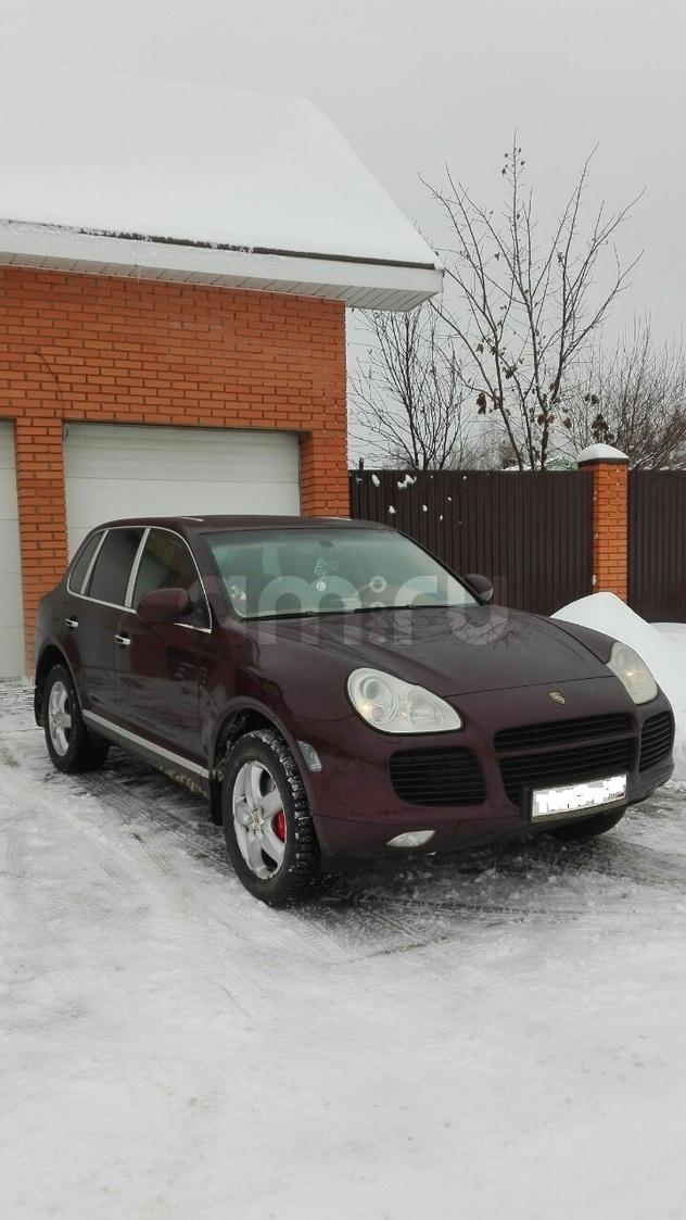Подержанный Porsche Cayenne, отличное состояние, бордовый металлик, 2006 года выпуска, цена 950 000 руб. в ао. Ханты-Мансийском Автономном округе - Югре