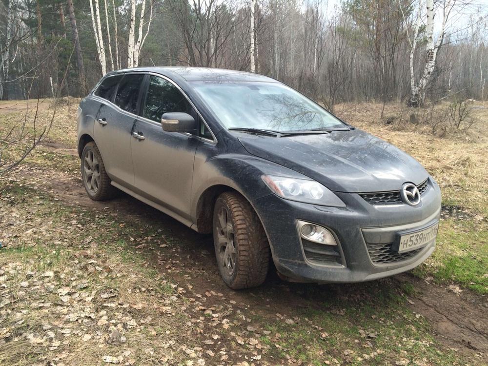 Подержанный Mazda CX-7, отличное состояние, черный металлик, 2011 года выпуска, цена 780 000 руб. в республике Татарстане