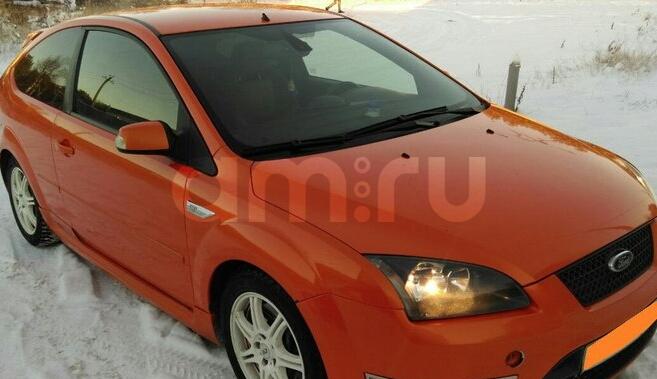 Подержанный Ford Focus, отличное состояние, оранжевый акрил, 2007 года выпуска, цена 520 000 руб. в ао. Ханты-Мансийском Автономном округе - Югре