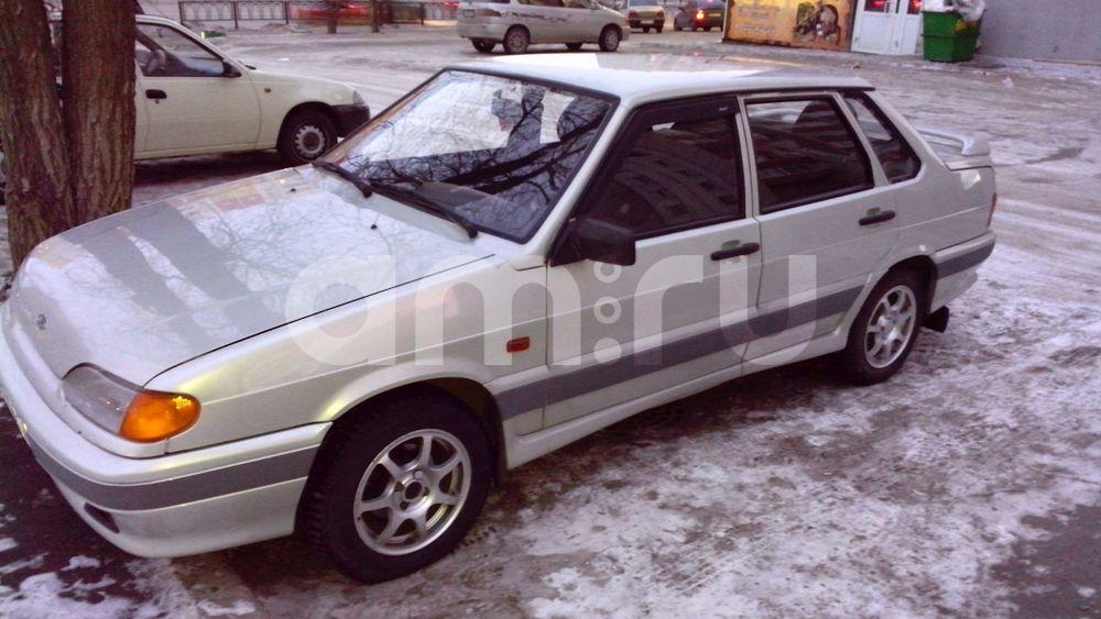 Подержанный ВАЗ (Lada) 2115, среднее состояние, белый металлик, 2006 года выпуска, цена 96 000 руб. в Челябинской области
