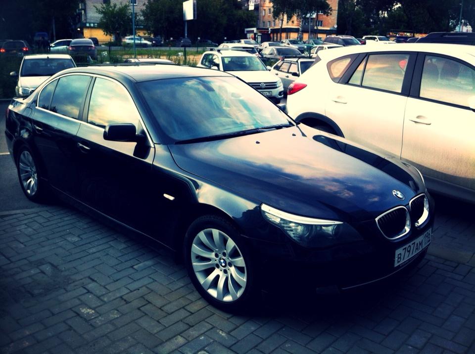 Подержанный BMW 5 серия, отличное состояние, черный металлик, 2008 года выпуска, цена 700 000 руб. в ао. Ханты-Мансийском Автономном округе - Югре