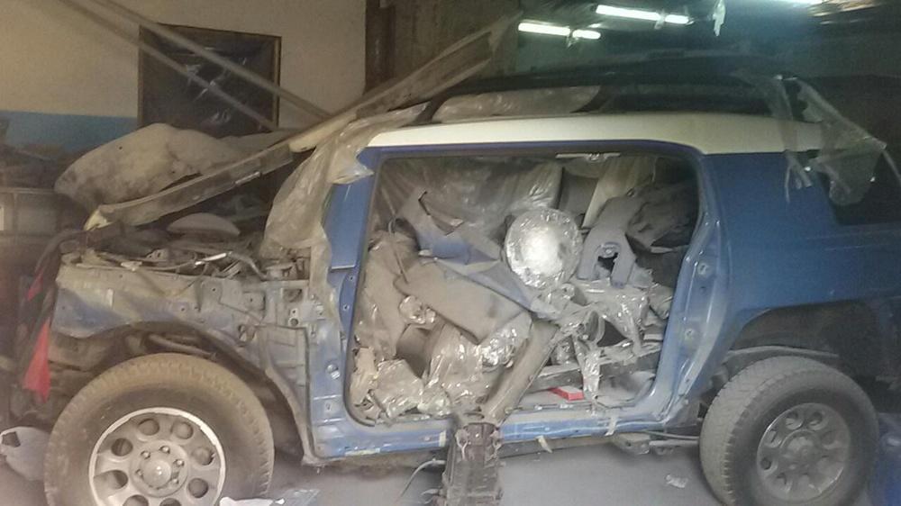 Подержанный Toyota FJ Cruiser, битый состояние, синий , 2011 года выпуска, цена 500 000 руб. в Смоленской области