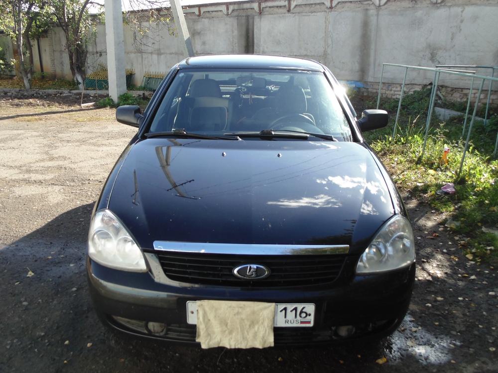 Подержанный ВАЗ (Lada) Priora, отличное состояние, черный , 2010 года выпуска, цена 189 000 руб. в республике Татарстане