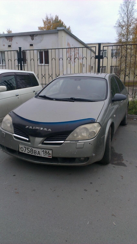 Подержанный Nissan Primera, хорошее состояние, серый , 2005 года выпуска, цена 250 000 руб. в ао. Ханты-Мансийском Автономном округе - Югре
