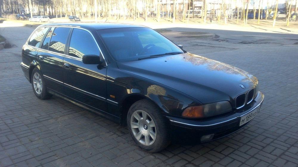 Подержанный BMW 5 серия, хорошее состояние, черный металлик, 1997 года выпуска, цена 235 000 руб. в Смоленской области