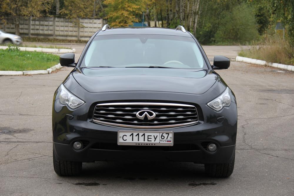Подержанный Infiniti FX-Series, отличное состояние, черный , 2009 года выпуска, цена 1 175 000 руб. в Смоленской области