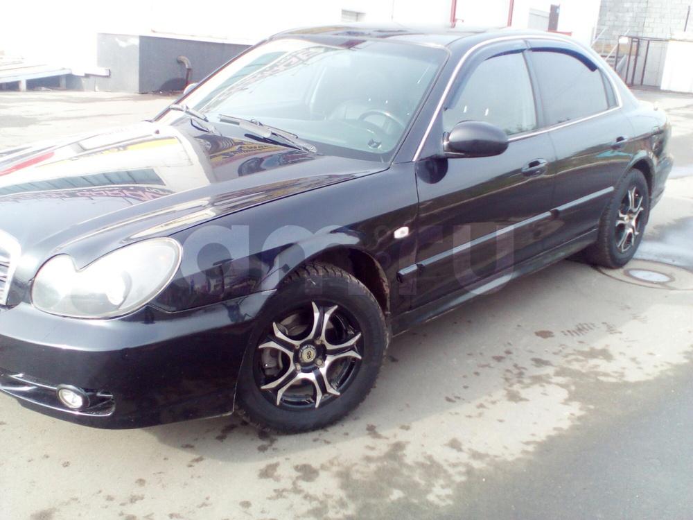 Подержанный Hyundai Sonata, хорошее состояние, черный , 2008 года выпуска, цена 330 000 руб. в Челябинской области