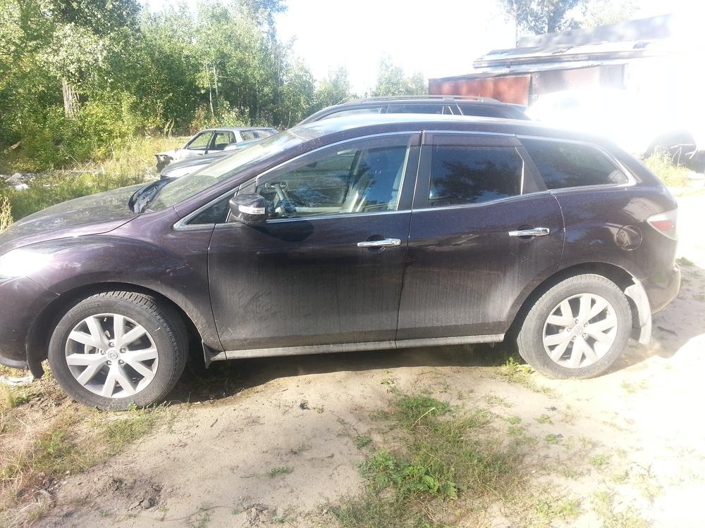 Подержанный Mazda CX-7, битый состояние, черный , 2008 года выпуска, цена 450 000 руб. в ао. Ханты-Мансийском Автономном округе - Югре