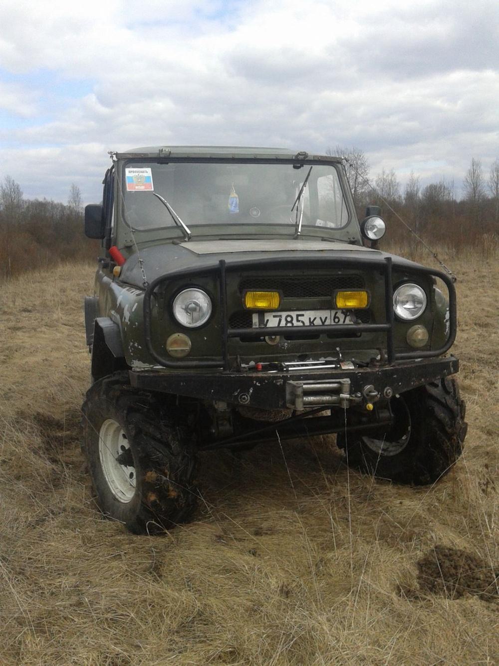 Подержанный УАЗ 469, хорошее состояние, зеленый , 2010 года выпуска, цена 195 000 руб. в Смоленской области