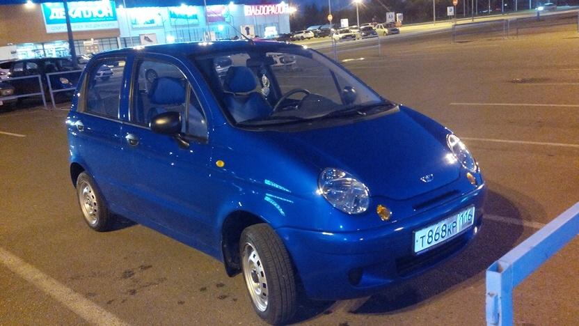 Подержанный Daewoo Matiz, отличное состояние, синий металлик, 2014 года выпуска, цена 179 000 руб. в республике Татарстане