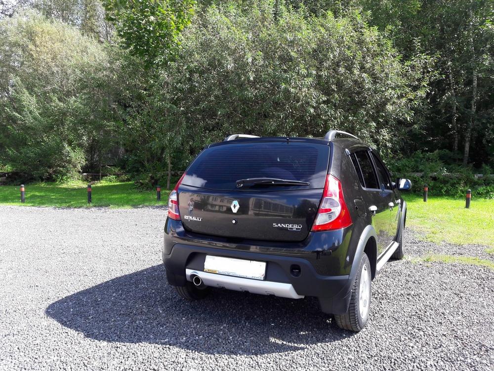 Подержанный Renault Sandero, отличное состояние, черный металлик, 2012 года выпуска, цена 420 000 руб. в Смоленской области