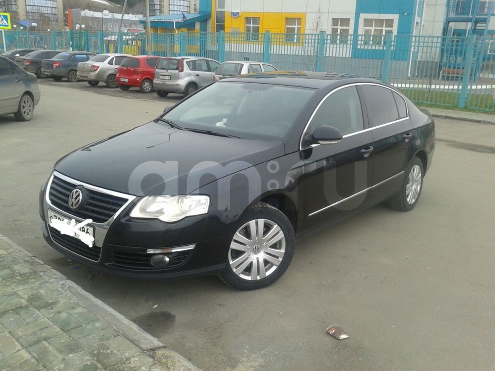 Подержанный Volkswagen Passat, отличное состояние, черный , 2008 года выпуска, цена 440 000 руб. в ао. Ханты-Мансийском Автономном округе - Югре