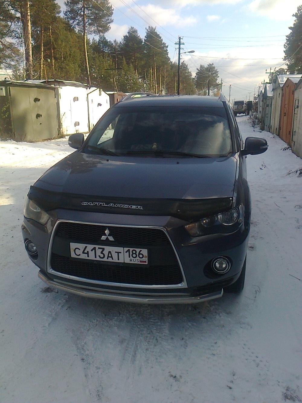 Подержанный Mitsubishi Outlander, отличное состояние, серый , 2010 года выпуска, цена 795 000 руб. в ао. Ханты-Мансийском Автономном округе - Югре