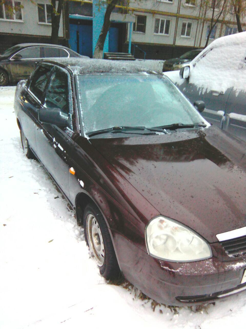 Подержанный ВАЗ (Lada) Priora, хорошее состояние, бордовый , 2012 года выпуска, цена 220 000 руб. в республике Татарстане