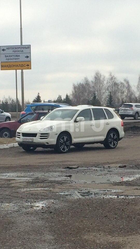 Подержанный Porsche Cayenne, хорошее состояние, белый , 2008 года выпуска, цена 1 050 000 руб. в республике Татарстане