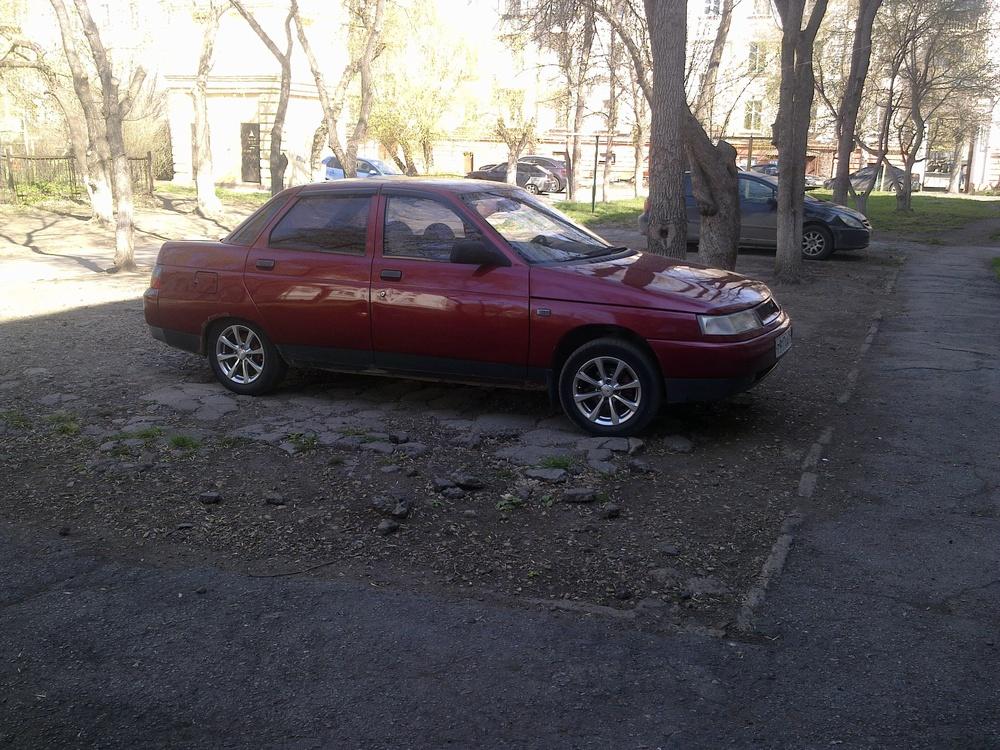 Подержанный ВАЗ (Lada) 2110, среднее состояние, бордовый , 2000 года выпуска, цена 65 000 руб. в Челябинской области