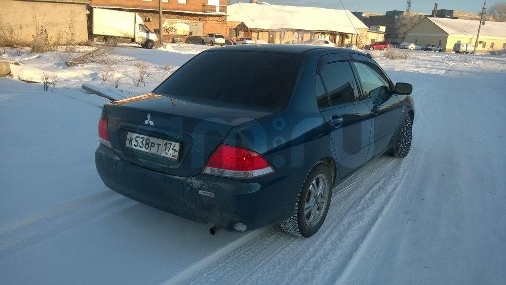 Подержанный Mitsubishi Lancer, отличное состояние, синий металлик, 2003 года выпуска, цена 230 000 руб. в Челябинской области