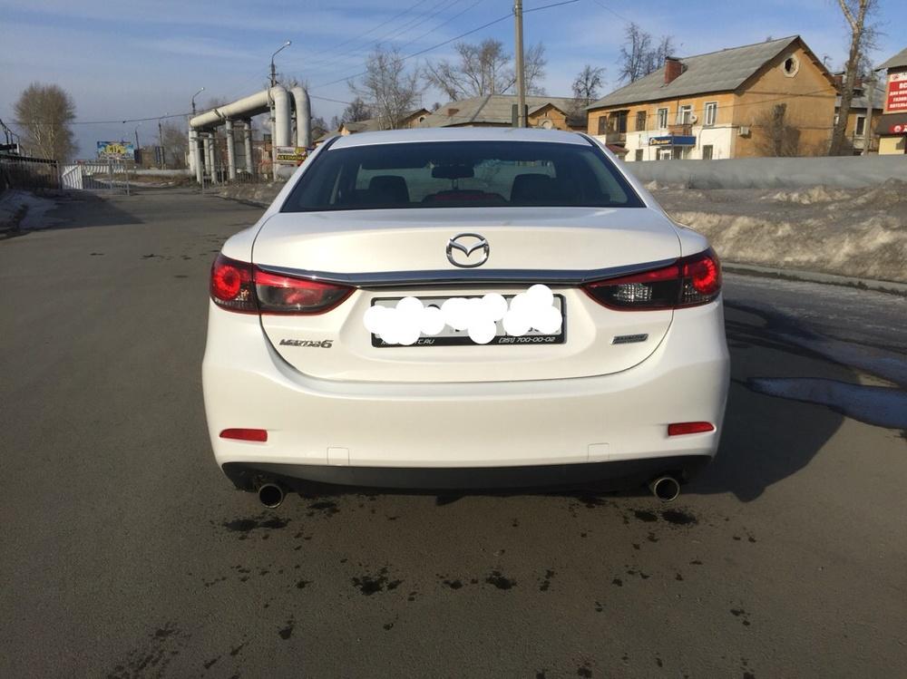 Подержанный Mazda 6, отличное состояние, белый перламутр, 2013 года выпуска, цена 1 050 000 руб. в Челябинской области