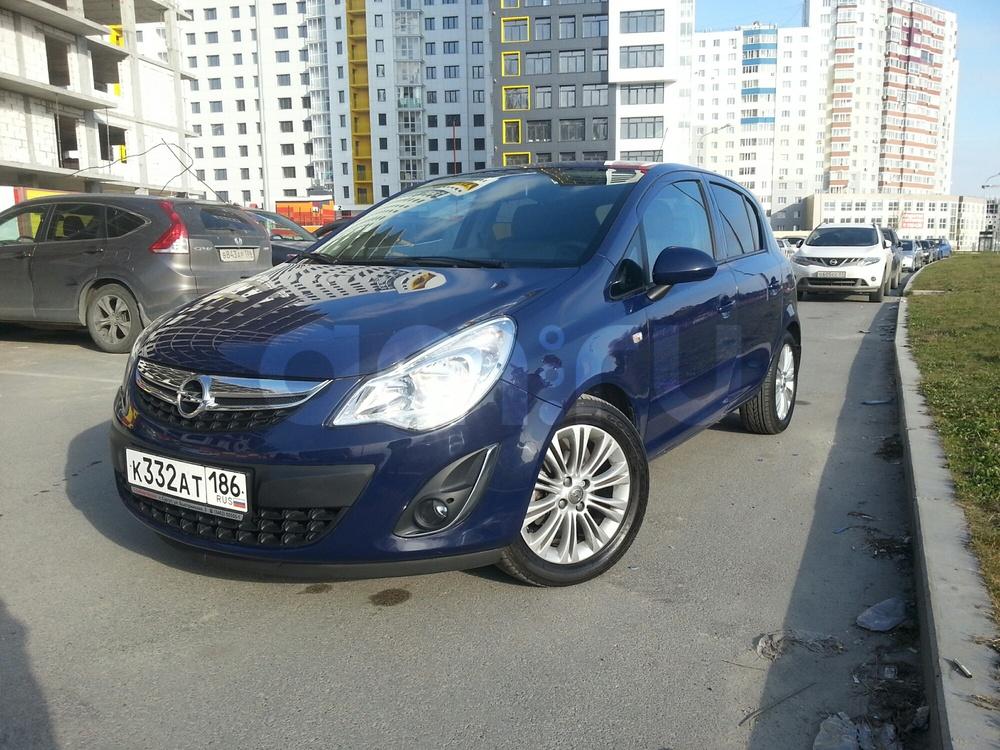 Подержанный Opel Corsa, отличное состояние, синий матовый, 2012 года выпуска, цена 520 000 руб. в ао. Ханты-Мансийском Автономном округе - Югре