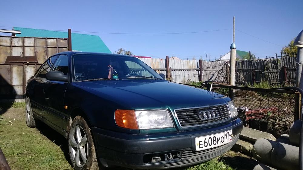 Подержанный Audi 100, среднее состояние, зеленый , 1992 года выпуска, цена 120 000 руб. в Челябинской области