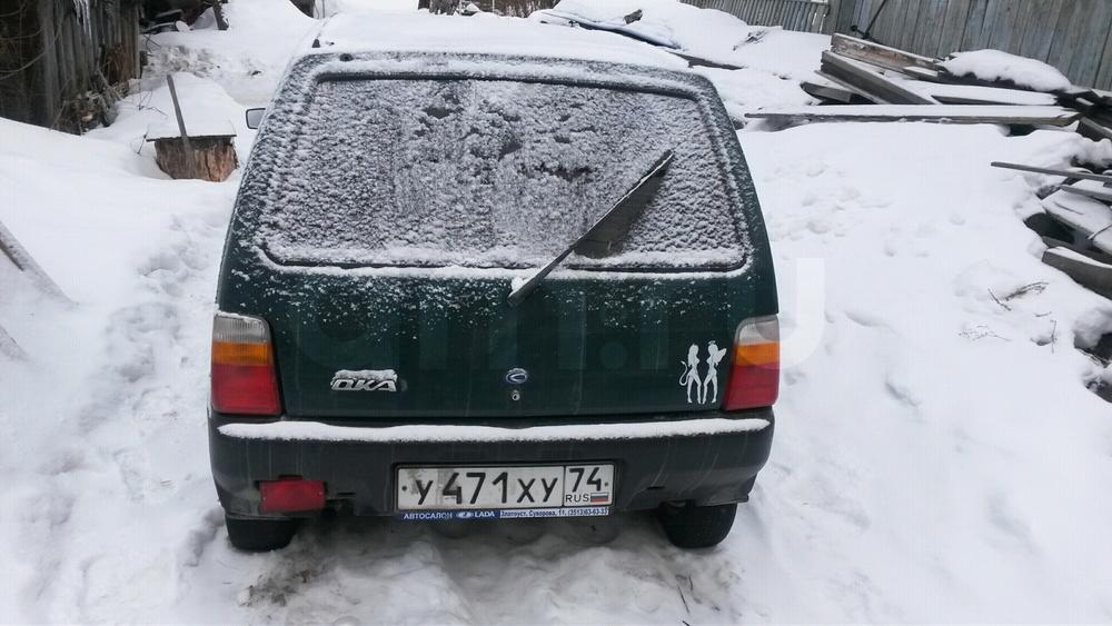 Подержанный ВАЗ (Lada) 1111 Ока, хорошее состояние, зеленый , 2004 года выпуска, цена 33 000 руб. в Челябинской области
