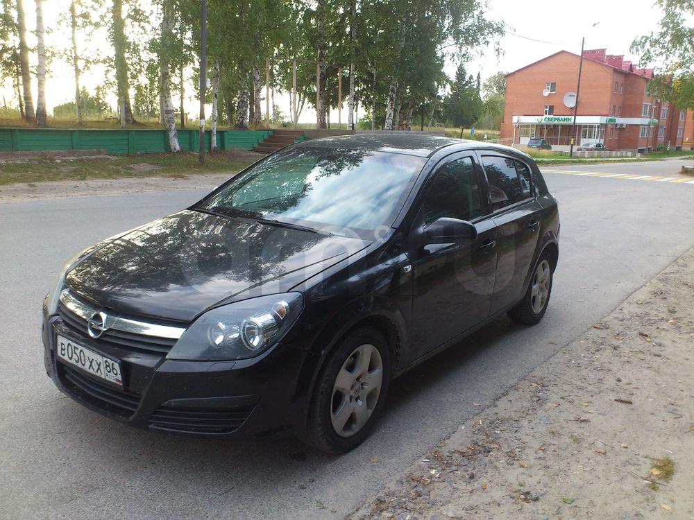 Подержанный Opel Astra, среднее состояние, черный , 2006 года выпуска, цена 300 000 руб. в ао. Ханты-Мансийском Автономном округе - Югре