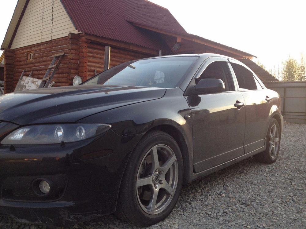 Подержанный Mazda 6, хорошее состояние, черный , 2006 года выпуска, цена 470 000 руб. в ао. Ханты-Мансийском Автономном округе - Югре