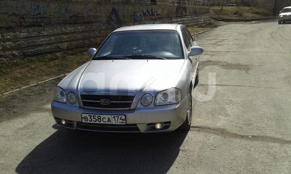 Подержанный Kia Magentis, хорошее состояние, серебряный , 2006 года выпуска, цена 300 000 руб. в Челябинской области