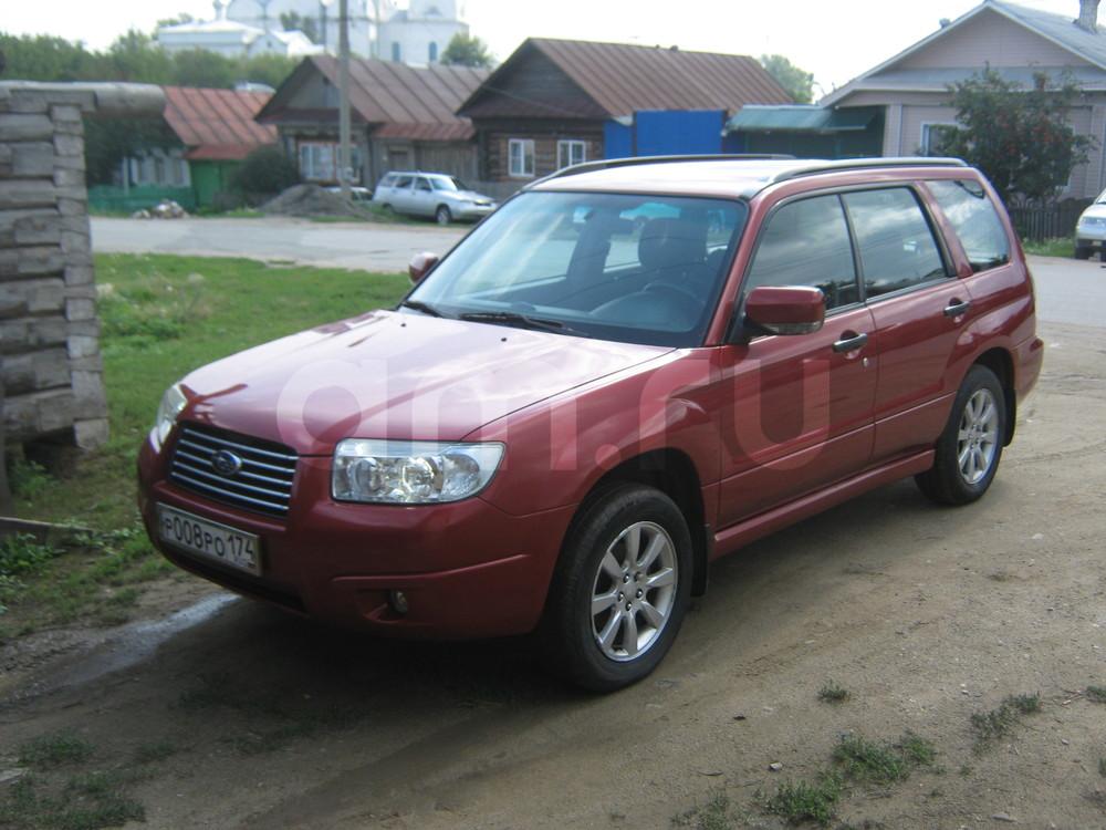 Подержанный Subaru Forester, отличное состояние, бордовый металлик, 2007 года выпуска, цена 550 000 руб. в Челябинской области