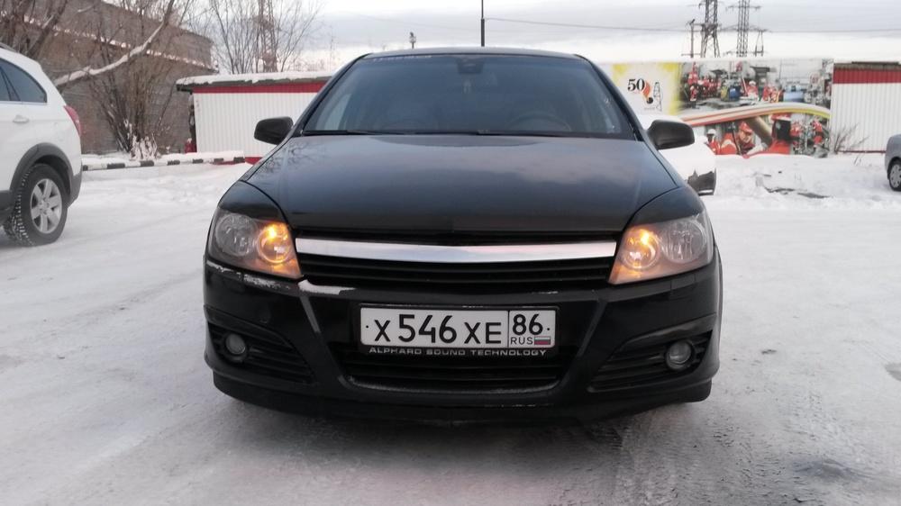 Подержанный Opel Astra, среднее состояние, черный бриллиант, 2006 года выпуска, цена 250 000 руб. в ао. Ханты-Мансийском Автономном округе - Югре