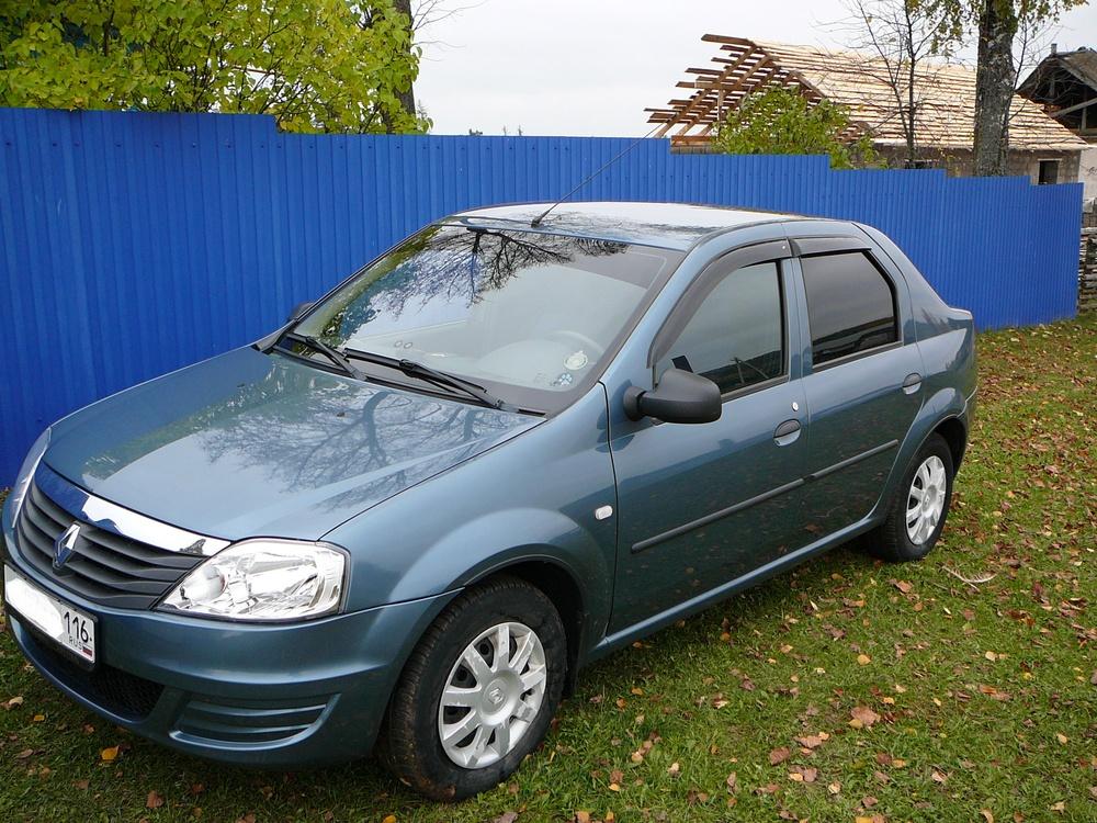 Подержанный Renault Logan, отличное состояние, синий металлик, 2012 года выпуска, цена 335 000 руб. в республике Татарстане