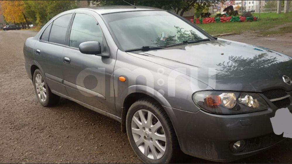 Подержанный Nissan Almera, хорошее состояние, мокрый асфальт металлик, 2004 года выпуска, цена 250 000 руб. в республике Татарстане