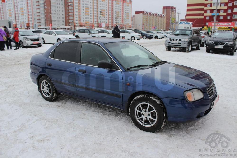Suzuki Baleno с пробегом, синий , хорошее состояние, 2001 года выпуска, цена 175 000 руб. в автосалоне  ()