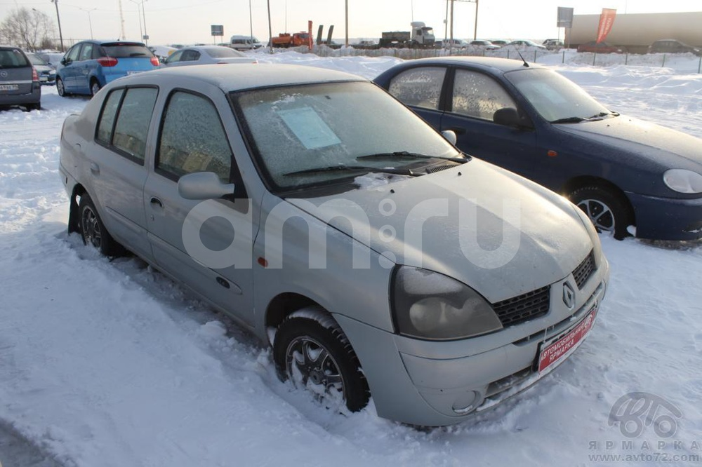 Renault Symbol с пробегом, серебряный , среднее состояние, 2002 года выпуска, цена 89 000 руб. в автосалоне Автомобильная Ярмарка (Тюмень, ул. Пермякова, д. 85)