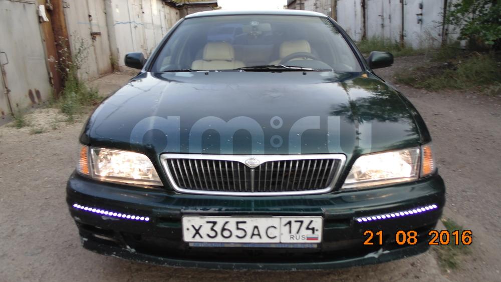 Подержанный Nissan Maxima, хорошее состояние, зеленый металлик, 1996 года выпуска, цена 145 000 руб. в Челябинской области