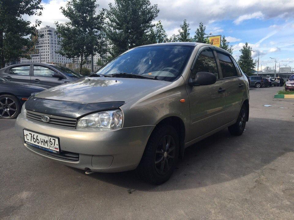 Подержанный ВАЗ (Lada) Kalina, хорошее состояние, бронзовый , 2007 года выпуска, цена 148 000 руб. в Смоленской области