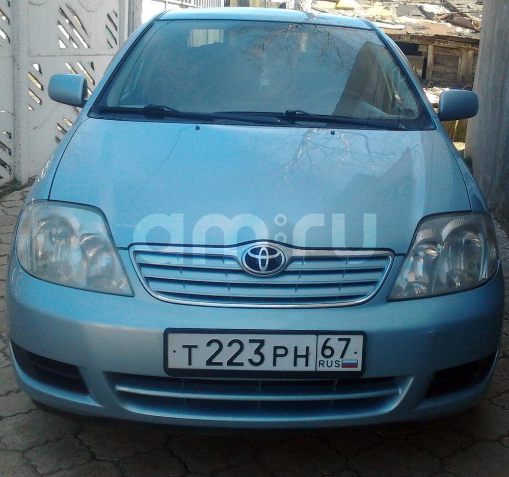 Подержанный Toyota Corolla, хорошее состояние, голубой , 2006 года выпуска, цена 350 000 руб. в Смоленской области