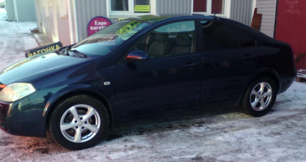 Подержанный Nissan Primera, хорошее состояние, синий , 2005 года выпуска, цена 295 000 руб. в Челябинской области