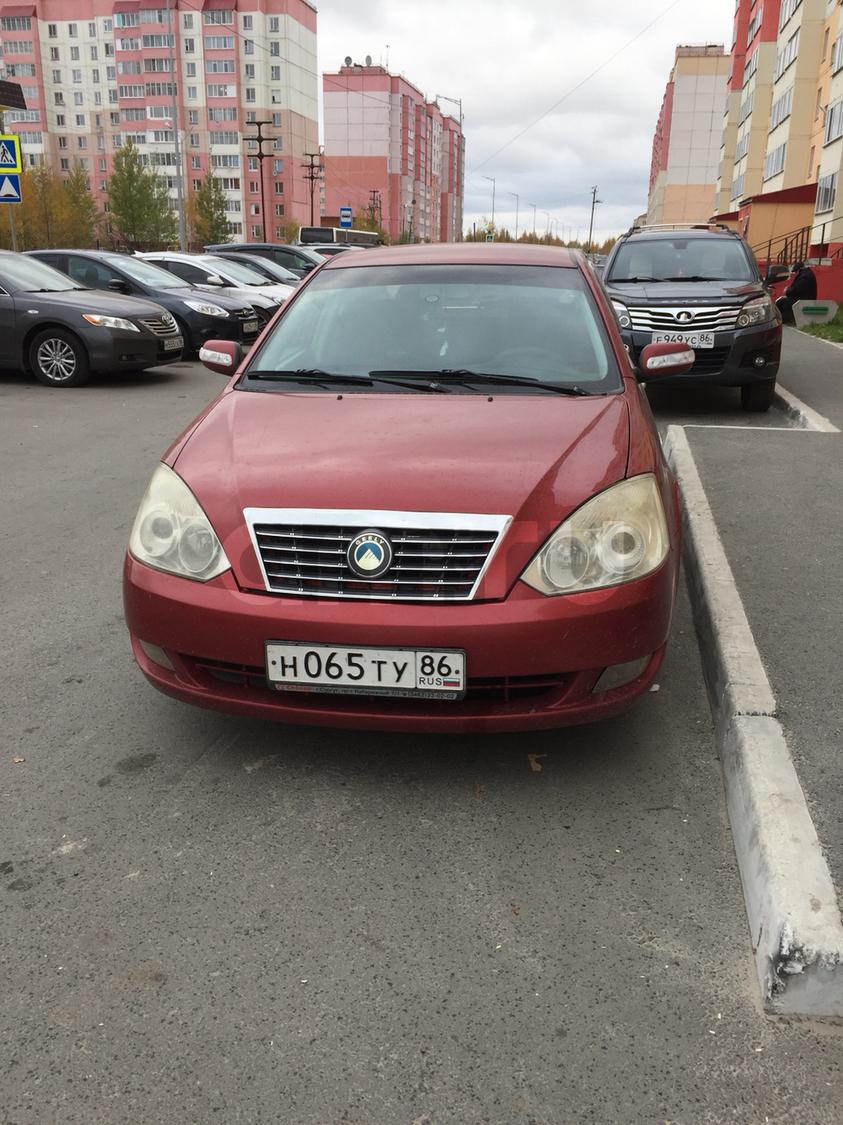 Подержанный Geely Vision, хорошее состояние, красный , 2008 года выпуска, цена 210 000 руб. в ао. Ханты-Мансийском Автономном округе - Югре