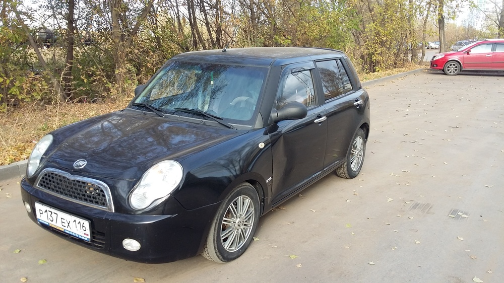 Подержанный Lifan Smily, хорошее состояние, черный , 2012 года выпуска, цена 180 000 руб. в республике Татарстане
