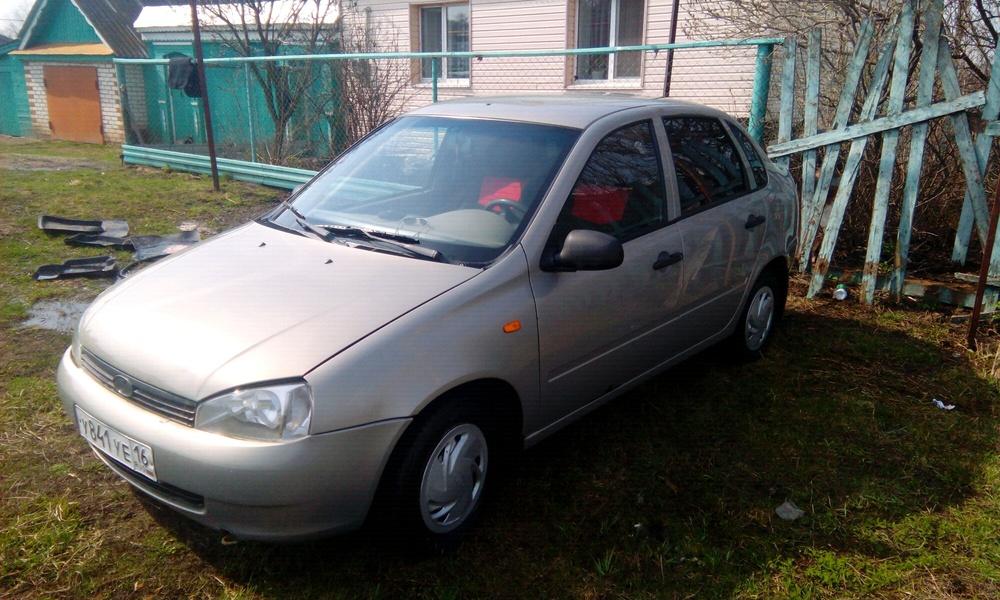 Подержанный ВАЗ (Lada) Kalina, хорошее состояние, серый , 2006 года выпуска, цена 115 000 руб. в республике Татарстане