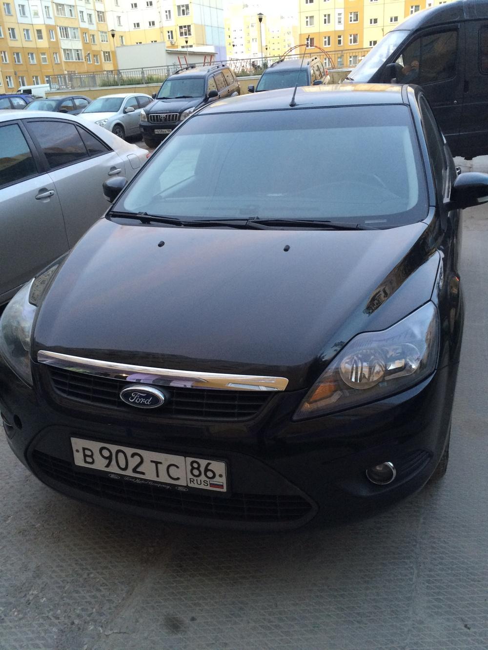 Подержанный Ford Focus, среднее состояние, черный , 2009 года выпуска, цена 350 000 руб. в ао. Ханты-Мансийском Автономном округе - Югре